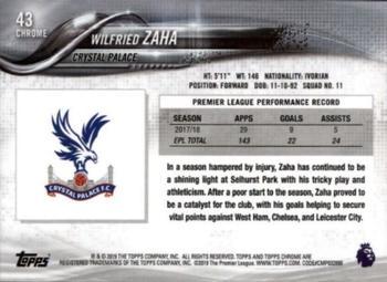 Wilfried Zaha Palacio de Cristal #109 Tarjeta de Topps ahora Premier League 2016-17