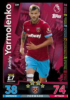 TOPPS MATCH ATTAX 2018-19-#340-WEST HAM UNITED-LUCAS PEREZ