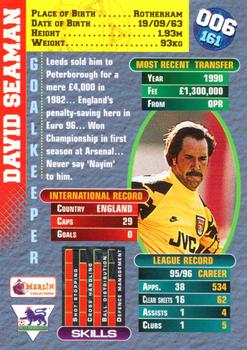 1996-97 Merlin's Premier Gold #6 David Seaman Back