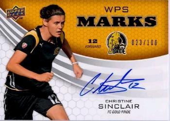 2010 Upper Deck World of Sports #116 Christine Sinclair Rookie MultiSport Card