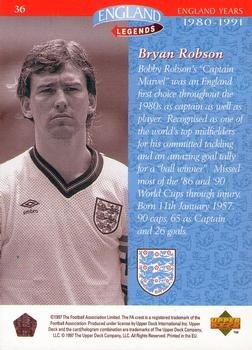 SUN-FOOTBALL SWAP CARDS BRYAN ROBSON M134 -#105- NEWCASTLE