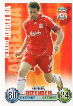 Panini 201 Alvaro Arbeloa Liverpool FC UEFA CL 2007//08