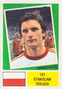 1978 FKS Publishers Argentina 78 Stickers #191 Stan Terlecki Front