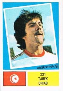 1978 FKS Publishers Argentina 78 Stickers #231 Tarek Dhiab Front