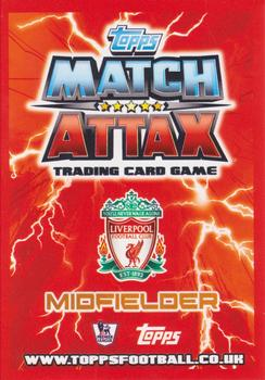 2012-13 Topps Premier League Match Attax #102 Joe Allen Back