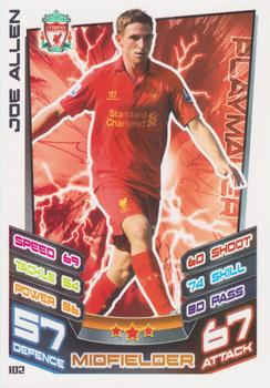 2012-13 Topps Premier League Match Attax #102 Joe Allen Front