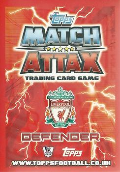 2012-13 Topps Premier League Match Attax #95 Glen Johnson Back