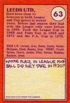 Leeds United Gallery - 1974-75 | The Trading Card Database