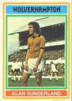-#101- ARSENAL ALAN SUNDERLAND TOPPS-FOOTBALL ORANGE BACK 1978
