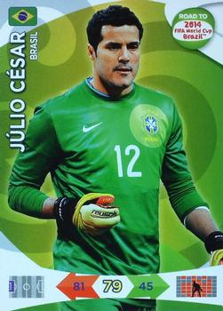 Panini Adrenalyn Road World Cup Brazil 207-julio cesar-goal Stopper