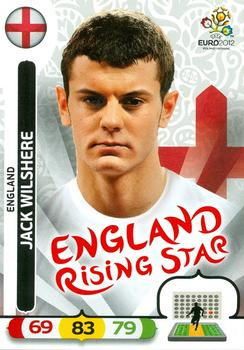 Panini Adrenalyn euro em 12-52-Jack Wilshere-Rising Star-UK Edition