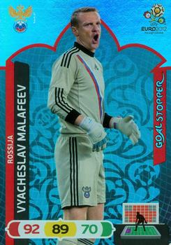 2012 Panini Adrenalyn XL Euro - Goal Stoppers #NNO Vyacheslav Malafeev Front
