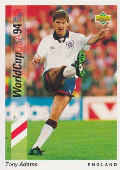 1993 Upper Deck World Cup Preview English/German #52 Tony Adams Front