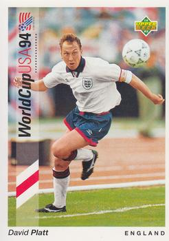 1993 Upper Deck World Cup Preview English/German #75 David Platt Front