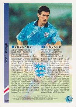 1993 Upper Deck World Cup Preview English/German #159 Nigel Clough Back