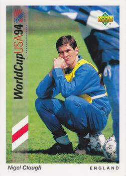 1993 Upper Deck World Cup Preview English/German #159 Nigel Clough Front