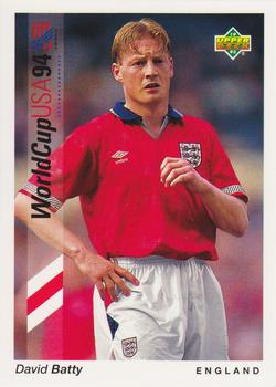 1993 Upper Deck World Cup Preview English/German #160 David Batty Front