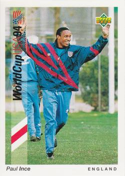 1993 Upper Deck World Cup Preview English/German #184 Paul Ince Front
