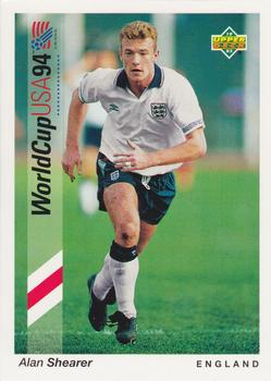 1993 Upper Deck World Cup Preview English/German #187 Alan Shearer Front