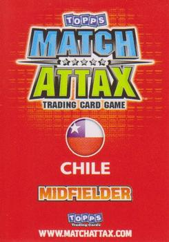 2010 Topps Match Attax South Africa World Cup #255 Matias Fernandez Back
