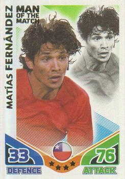 2010 Topps Match Attax South Africa World Cup #255 Matias Fernandez Front