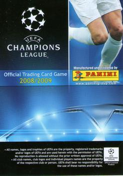 2008-09 Panini UEFA Champions League TCG #188 Thierry Henry Back