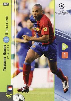 2008-09 Panini UEFA Champions League TCG #188 Thierry Henry Front
