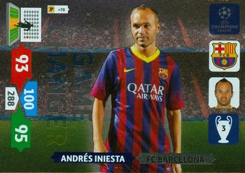 2013 14 panini uefa champions league adrenalyn xl game changers 2013 14 panini uefa champions league adrenalyn xl game changers nno andres iniesta voltagebd Images