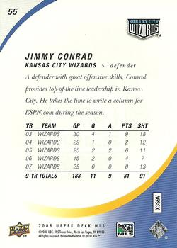 2008 Upper Deck MLS #55 Jimmy Conrad Back