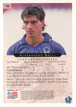 1994 Upper Deck World Cup Contenders English/Spanish #160 Alessandro Melli Back