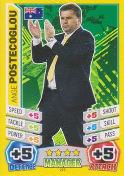 2014 Topps Match Attax World Stars - Managers #275 Ange Postecoglou Front