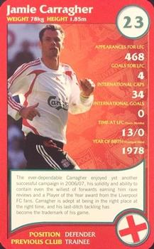 2008 Top Trumps Specials Liverpool #NNO Jamie Carragher Front