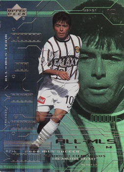2000 Upper Deck MLS #10 Mauricio Cienfuegos la galaxia Tarjeta de fútbol