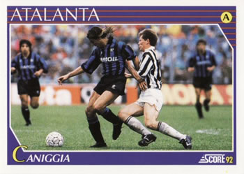 1992 Score Italian League #26 Claudio Paul Caniggia Front
