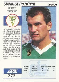 1992 Score Italian League #272 Gianluca Franchini Back