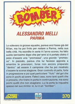 1992 Score Italian League #370 Alessandro Melli Back