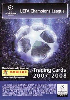 2007-08 Panini UEFA Champions League (European Edition) #212 Peter Crouch Back