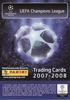 34a37878de1 2007-08 Panini UEFA Champions League (European Edition) #210 Lionel Messi  Back