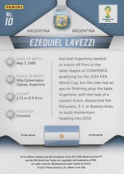 2014 Panini Prizm World Cup Prizms #10 Ezequiel Lavezzi