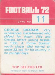1971-72 Panini Football 72 #11 George Graham Back