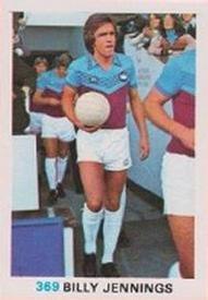 BILLY JENNINGS -#176- WEST HAM UNITED TOPPS-FOOTBALL RED BACK 1977