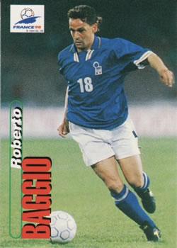 5233dc167 1998 Panini World Cup  45 Roberto Baggio Front