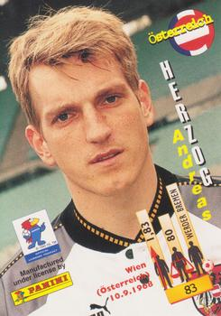 1998 Panini World Cup #83 Andreas Herzog Back