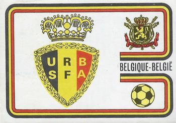 1974 Panini FIFA World Cup Munich Stickers #353 Belgium Badge Front