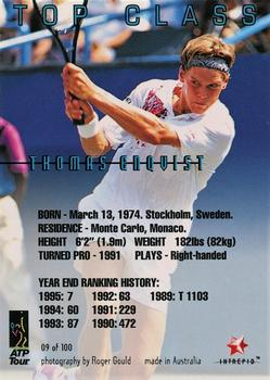 1996 Intrepid Blitz ATP #9 Thomas Enqvist Back