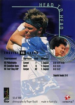 1996 Intrepid Blitz ATP #32 Michael Chang / Thomas Enqvist Back