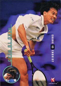 1996 Intrepid Blitz ATP #32 Michael Chang / Thomas Enqvist Front