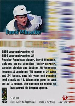 1996 Intrepid Blitz ATP #51 David Wheaton Back
