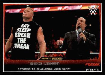 2015 Topps WWE Road To Wrestlemania 37 Brock Lesnar