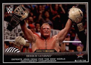 2015 Topps WWE Road To Wrestlemania 44 Brock Lesnar